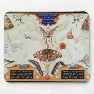 Diptych with flowers and insects, 1591 mouse pad