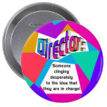 direct In Charge Round 10 Cm Round Badge