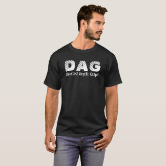 Directed Acyclic Graph Crypto Black T-shirt