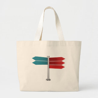 Direction signs large tote bag