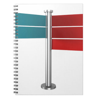 Direction signs notebook