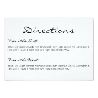 Directions Card | Basic-white