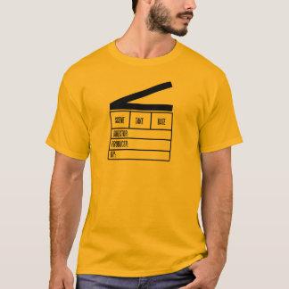 Director basic orange T.Shirt with big clapboard T-Shirt