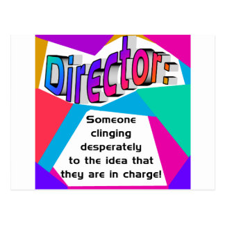 Director In charge? Postcard