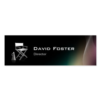 Director in film television theatrical production pack of skinny business cards
