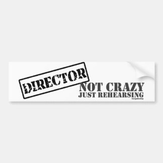 Director: Not Crazy Just Rehearsing Bumper Sticker