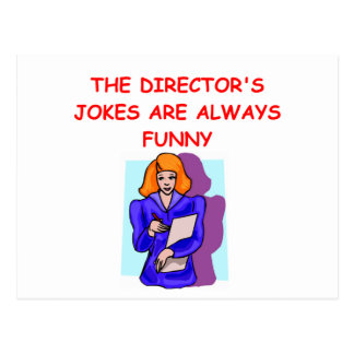 director postcard