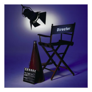 Director s Slate Chair Stage Light 2 Print