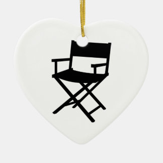 Director's chair ceramic ornament