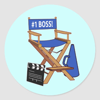 Director's Chair: Number One Boss Round Sticker