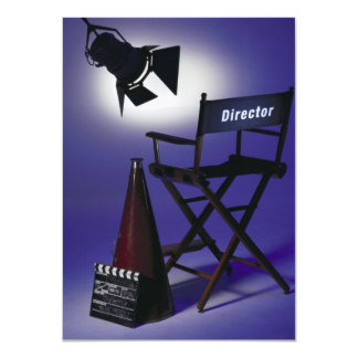 Director's Slate, Chair & Stage Light 2 Card