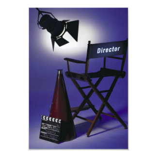 Director's Slate, Chair & Stage Light 2 Personalized Invites