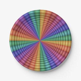 Directrix Modern Abstract Geometric Paper Plate
