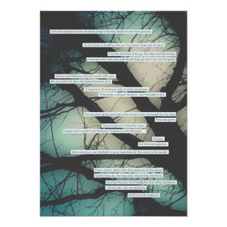 dirge without music sympathy card poster