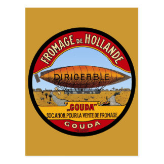 Dirigeable Holland Cheese Postcard