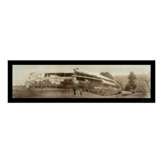 Dirigible Shenandoah Disaster Photo 1925 Poster