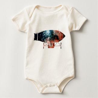Dirigible Zeppelin Silhouette Baby Bodysuit