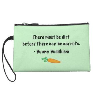 Dirt Before Carrots Wristlet