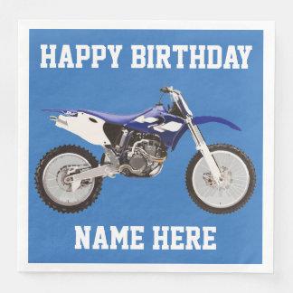Dirt Bike Blue Birthday Sport Napkins Paper Napkin