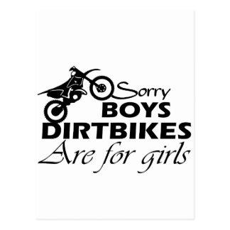 dirt bike girl postcard