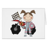 Dirt Bike - Girl T-shirts and Gifts Greeting Card