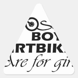dirt bike girl triangle sticker