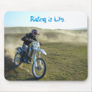 Dirt Bike Motocross Rider Mouse Pad