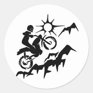 Dirt Bike Mountain Classic Round Sticker