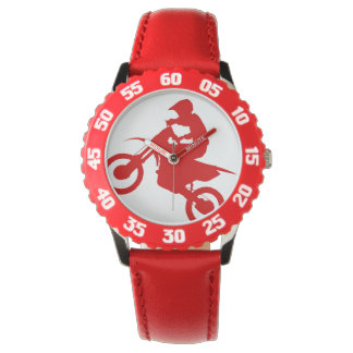 DIRT BIKE ( red ) Wristwatches