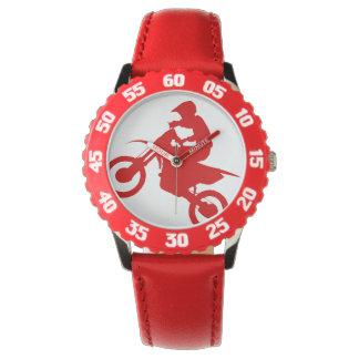 DIRT BIKE ( red ) Wristwatches