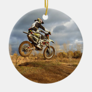 Dirt Bike Ride Ceramic Ornament