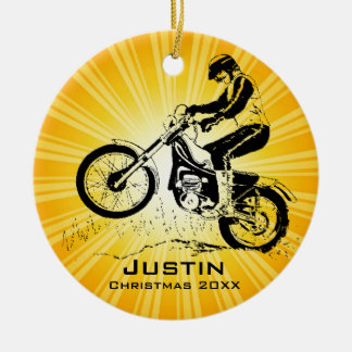 Dirt Bike Rider Ornament
