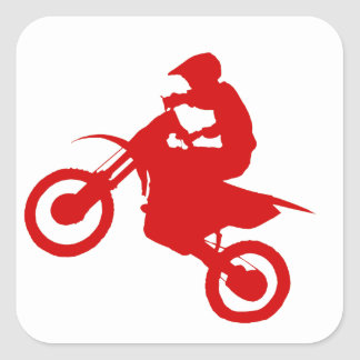 DIRT BIKE (scarlet) Square Sticker