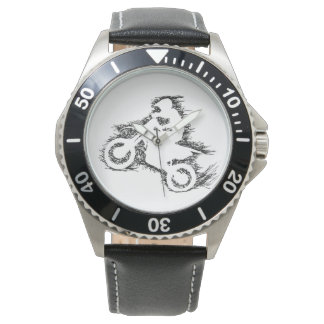 DIRT BIKE ( scribble black ) Watch