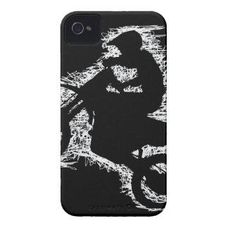 DIRT BIKE ( white scribble ) iPhone 4 Case