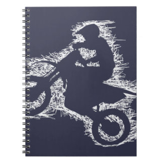 DIRT BIKE ( white scribble ) Spiral Notebook