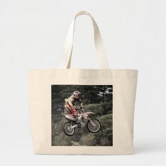 Dirt Biker Large Tote Bag
