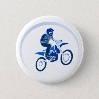 Dirt Biker Vector Biking 6 Cm Round Badge