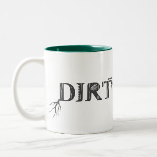 Dirt Nerd - Proud Urban Farmer Two-Tone Coffee Mug