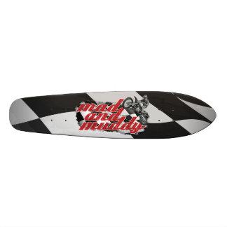 Dirt race skate board decks