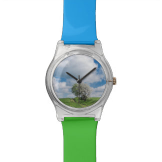 Dirt Road and Apple Trees Wrist Watches