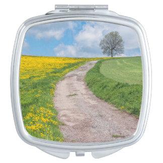 Dirt Road and Tree Vanity Mirror