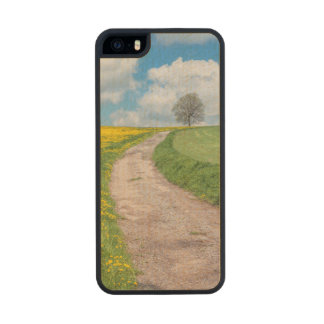 Dirt Road and Tree Wood iPhone SE/5/5s Case