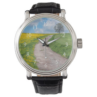Dirt Road and Tree Wristwatch