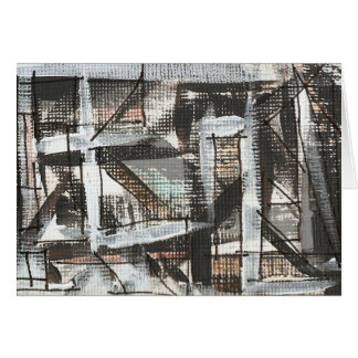 Dirt Road-Hand Painted Abstract Art Card