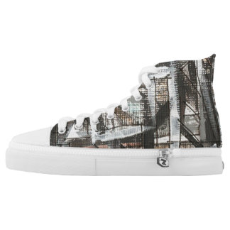 Dirt Road-Hand Painted Abstract Brushstrokes High Tops