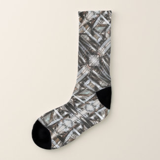 Dirt Road-Hand Painted Abstract Brushstrokes Socks