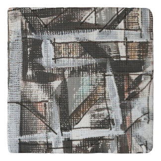 Dirt Road-Hand Painted Abstract Brushstrokes Trivet