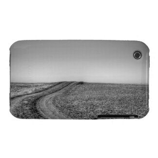 Dirt road over frosted pasture Case-Mate iPhone 3 case