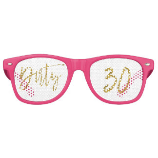 Dirty 30 Gold Foil Birthday Party Glasses
